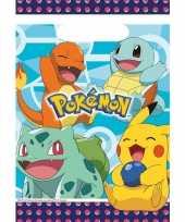 Vergelijk 16x pokemon eetuitdeelzakjes snoepzakjes blauw 16 x 23 cm kinderverjaardag prijs