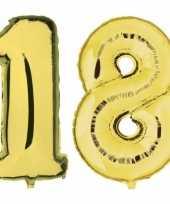 Vergelijk 18 jaar leeftijd helium folie ballonnen goud feestversiering prijs