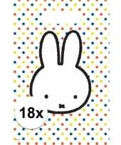 Vergelijk 18x nijntje versiering eten uitdeelzakjes snoepzakjes 30 x 21 cm kinderverjaardag prijs