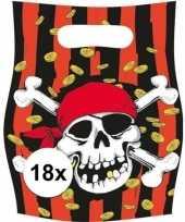 Vergelijk 18x piratenfeest verjaardags snoepzakjes prijs