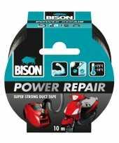 Vergelijk 1x bison power repair tape zwart 10 meter prijs