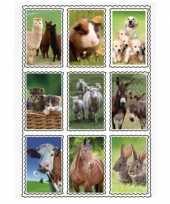 Vergelijk 2 stuks 3d stickers van boerderij dieren 9 stuks per vel prijs