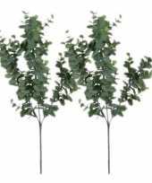 Vergelijk 2 stuks nep planten eucalyptus kunstbloemen takken 65 cm decoratie prijs