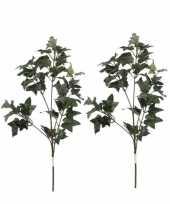 Vergelijk 2 stuks nep planten hedera klimop kunstbloemen takken 55 cm decoratie prijs