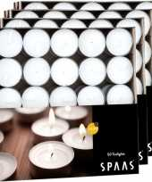 Vergelijk 200x theelichten wit 4 5 branduren in doos prijs