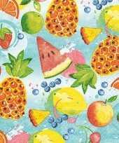 Vergelijk 20x feest servetten tropisch fruit 33 x 33 cm prijs