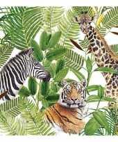 Vergelijk 20x feest servetten wilde dieren 33 x 33 cm prijs