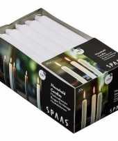 Vergelijk 20x lange kaarsen wit 18 cm 6 branduren huishoudkaarsen dinerkaarsen tafelkaarsen prijs