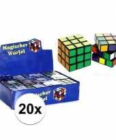Vergelijk 20x uitdeel speelgoed puzzel kubussen 7 cm prijs