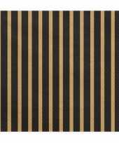 Vergelijk 20x zwart goud gestreepte servetten 33 cm prijs
