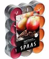 Vergelijk 24x theelichten appel kaneel geurkaarsen apple cinnamon 4 5 branduren prijs