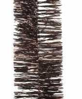 Vergelijk 2x chocolade bruine kerstboomslinger 270 cm prijs