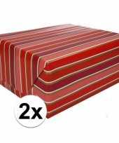 Vergelijk 2x gekleurd cadeaupapier met strepen 70 x 200 cm type 7 prijs