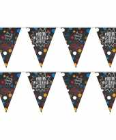 Vergelijk 2x geslaagd afgestudeerd puntvlaggenlijn slinger krijtbord hashtags 10 meter feestversieri