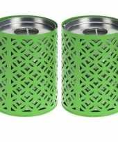 Vergelijk 2x groene kaarshouder met 6 citronella theelichtjes prijs