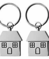 Vergelijk 2x housewarming sleutelhanger 7 cm prijs