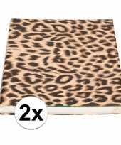 Vergelijk 2x kaftpapier panterprint luipaardprint 400 cm prijs