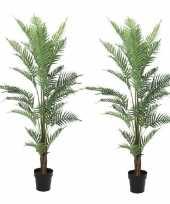 Vergelijk 2x kunstplanten een varen van 150 cm prijs