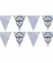 Vergelijk 2x lets party holografische feest versiering vlaggenlijnen 10 meter prijs