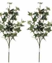 Vergelijk 2x nep planten hedera klimop kunstbloemen takken 50 cm decoratie prijs