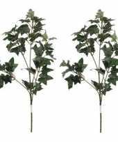 Vergelijk 2x nep planten hedera klimop kunstbloemen takken 55 cm decoratie prijs