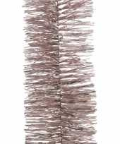 Vergelijk 2x roze kerstboomslinger 270 cm prijs
