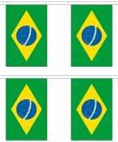 Vergelijk 2x stoffen vlaggenlijnen slingers brazilie 3 meter prijs