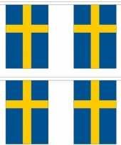 Vergelijk 2x stoffen vlaggenlijnen zweden 3 meter prijs