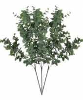 Vergelijk 3 stuks nep planten eucalyptus kunstbloemen takken 65 cm decoratie prijs