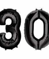Vergelijk 30 jaar leeftijd helium folie ballonnen zwart feestversiering prijs