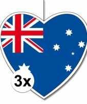 Vergelijk 3x australie hangdecoratie harten 28 cm prijs
