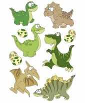 Vergelijk 3x dinosaurus met wiebeloogjes stickervel met 27 stickers prijs