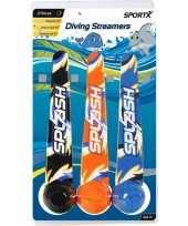 Vergelijk 3x duik speelgoed ballen streamers met werplint prijs