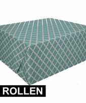 Vergelijk 3x groen cadeaupapier 70 x 200 cm type 2 prijs