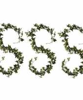 Vergelijk 3x groene klimop hangplanten 180 cm kunstplanten slinger woonaccessoires woondecoraties pr