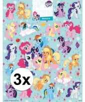 Vergelijk 3x grote vellen met my little pony stickers prijs