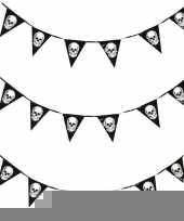 Vergelijk 3x halloween vlaggenlijnen met schedels 360 cm prijs