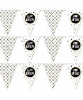 Vergelijk 3x happy birthday metallic feest versiering vlaggenlijnen 10 meter prijs