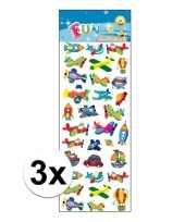 Vergelijk 3x kinder stickers voertuigen prijs 10107437