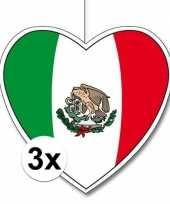 Vergelijk 3x mexico hangdecoratie harten 28 cm prijs