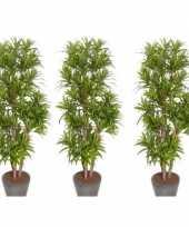 Vergelijk 3x nep planten groene dracaena reflexa binnenplant kunstplanten 120 cm voor binnen prijs