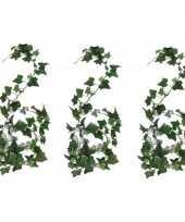 Vergelijk 3x nep planten groene hedera helix klimop kunstplanten 180 cm prijs
