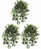 Vergelijk 3x nep planten groene hedera helix klimop weerbestendige kunstplanten 65 cm prijs