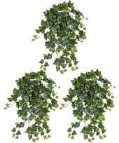 Vergelijk 3x nep planten groene witte hedera helix klimop weerbestendige kunstplanten 65 cm prijs
