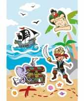 Vergelijk 3x piraat stickervellen met 8 stickers prijs