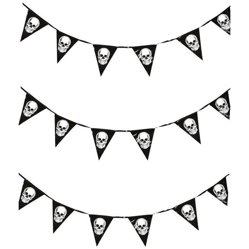 Vergelijk 3x piraten vlaggenlijnen met schedels 360 cm prijs