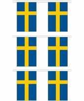 Vergelijk 3x stoffen vlaggenlijnen zweden 3 meter prijs