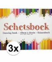 Vergelijk 3x tekeningenboeken a4 papier prijs