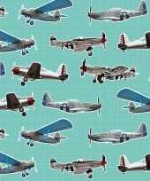 Vergelijk 3x verjaardag kadopapier mintgroen vliegtuigjes 200 x 70 cm voor kinderen jongens prijs