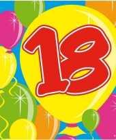 Vergelijk 40x achttien 18 jaar feest servetten balloons 25 x 25 cm verjaardag jubileum prijs